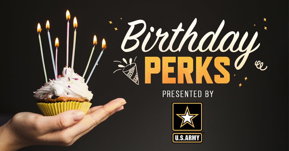 Birthday Perks powered by the U.S. Army