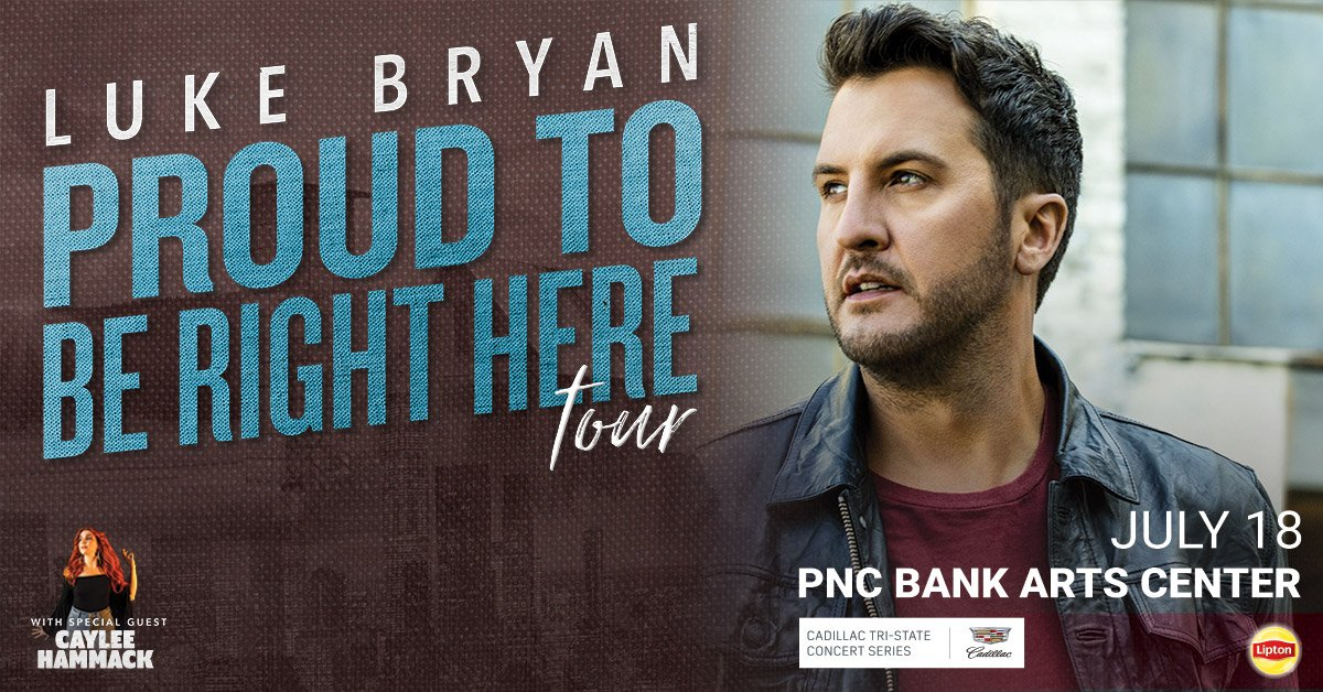 Luke Bryan at the PNC Bank Arts Center in Holmdel – July 18th!